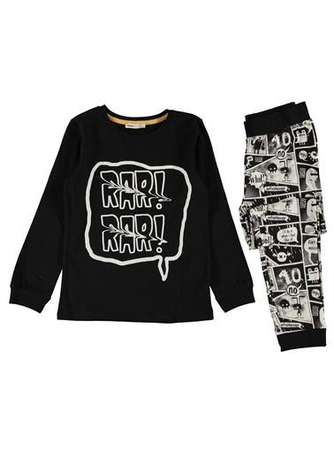 Koton Kids Pijama Takım Siyah